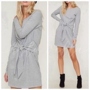 Cute gray tie front dress